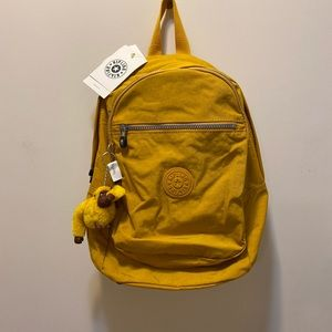 NWT Kipling Warm Yellow Backpack